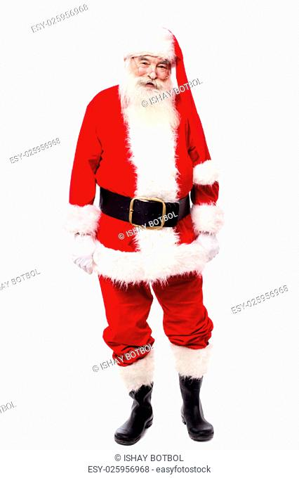 Father Christmas isolated on white