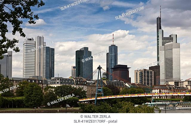 Skyscrapers in urban skyline