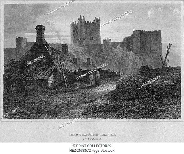 'Bamborough Castle, Northumberland', 1814. Artist: John Greig