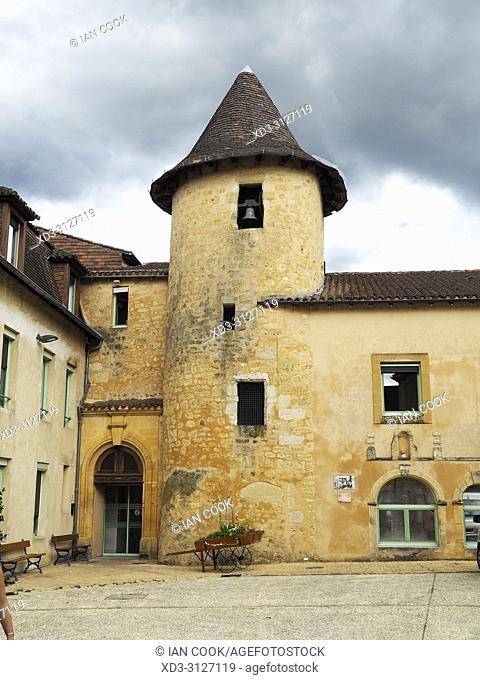 Place Maurice Biraben, Belves, Dordogne Department, Nouvelle-Aquitaine, France