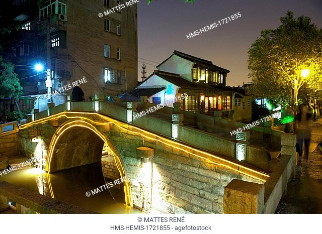 China, Jiangsu province, Suzhou, Pingjiang Lu street district listed as World Heritage by UNESCO
