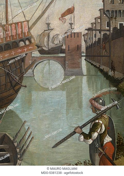 Legend of St Ursula. Arrival in Cologne, by Carpaccio Vittore, 1490, 15th Century, oil on canvas