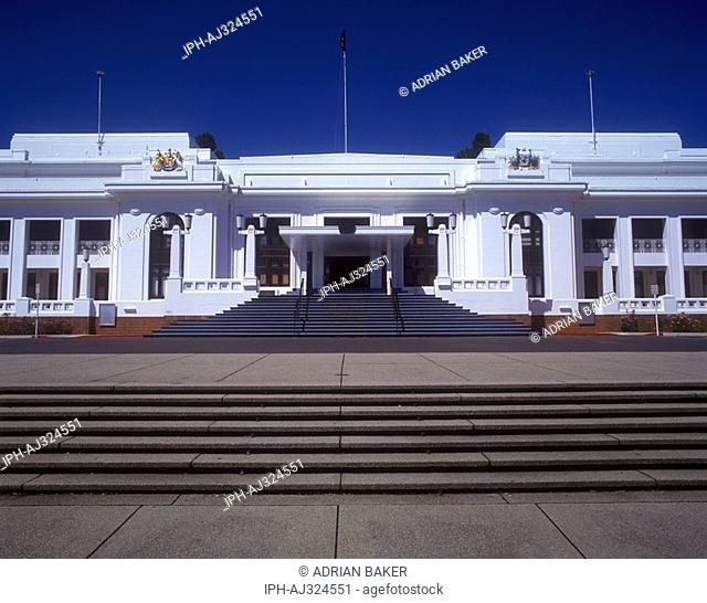 Main entrance to the old Parliament House in Canberra