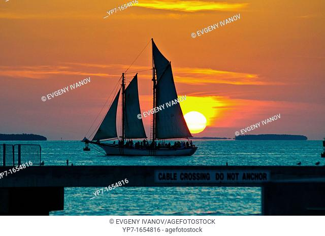 Sailboat In The Sunset, Key West