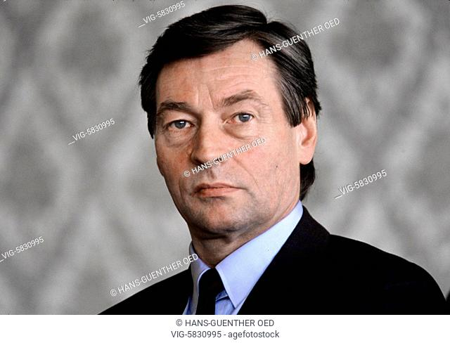 15.03.1989, Germany, Bonn, Alfred Herrhausen, bank manager and chairman of Deutsche Bank AG, was murdered by the RAF on 30.11