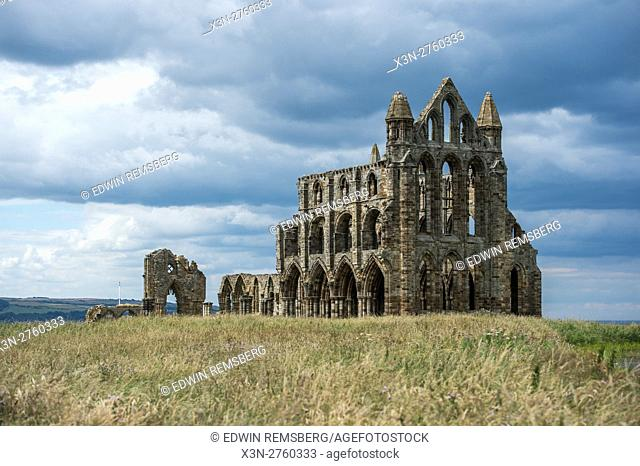 UK, England, Yorkshire - Whitby Abbey located in England