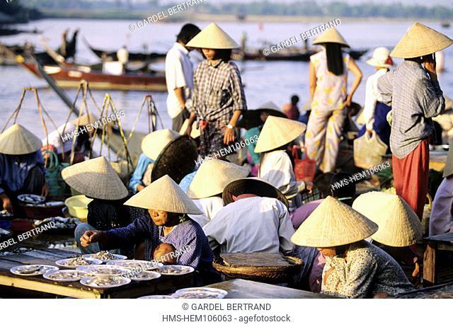 Vietnam, littoral center, the morning market of Hoi-An