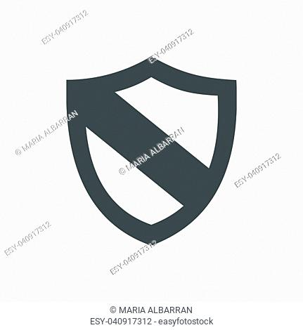 Protection shield icon on a white background