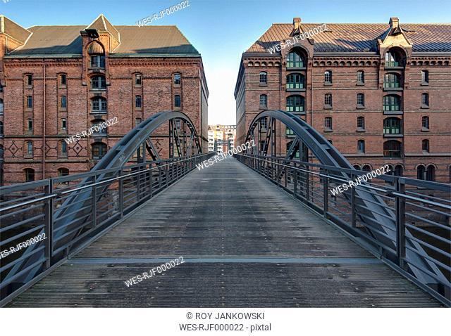 Germany, Hamburg, Speicherstadt, Kibbelsteg