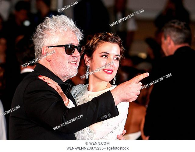 69th Cannes Film Festival - 'Julieta' - Premiere Departures Featuring: Pedro Almodovar, Adriana Ugarte Where: Cannes, France When: 17 May 2016 Credit: WENN