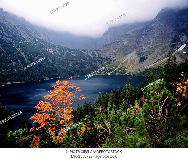 Tatra mountains. Morskie Oko lake. Poland