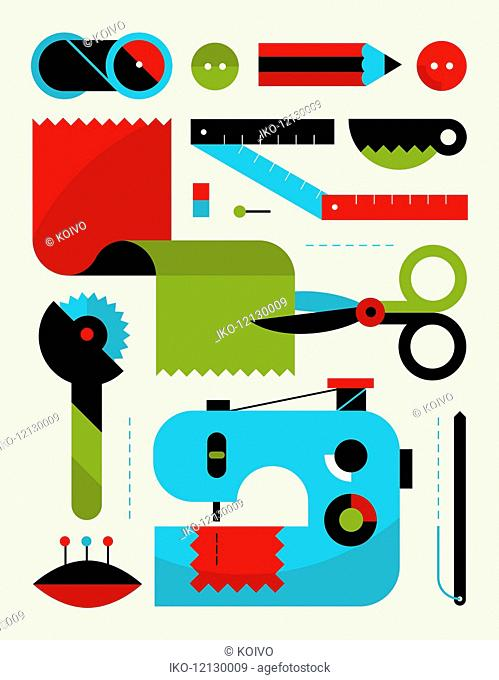 Sewing kit equipment