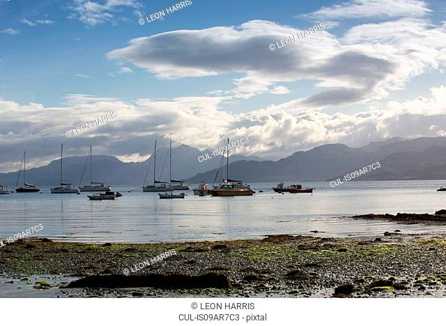 Boats in harbour, Armadale, Isle of Skye, Hebrides, Scotland