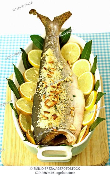 Wild salmon with lemon