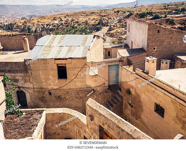 Ortahisar, Nevsehir, Turkey - September 16, 2016: Very unique stone old town in Cappocia region of Turkey