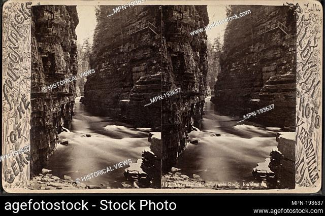 Au Sable Chasm. Table Rock, looking up. Additional title: Gems of the Adirondacks. Baldwin, G. W. (George W.) (Photographer). Robert N
