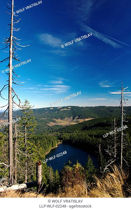 View of Black Lake, Sumava National Park, the Southwestern Bohemia, Czech Republic