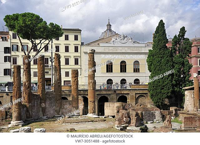 Teatro Argentina is one of the oldest theatres in Rome, and was inaugurated on 1732. It is located in the Area Sacra di Largo di Torre Argentina