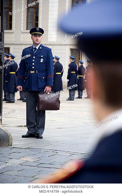guards on the Castle of Prague, Czech Republic