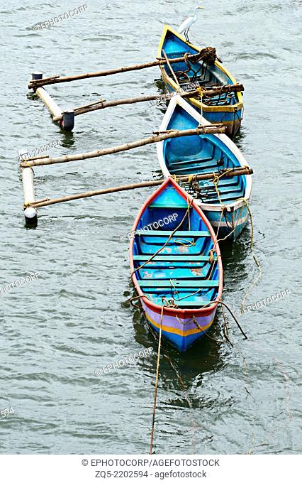 Ferry boats in the river, Goa, India