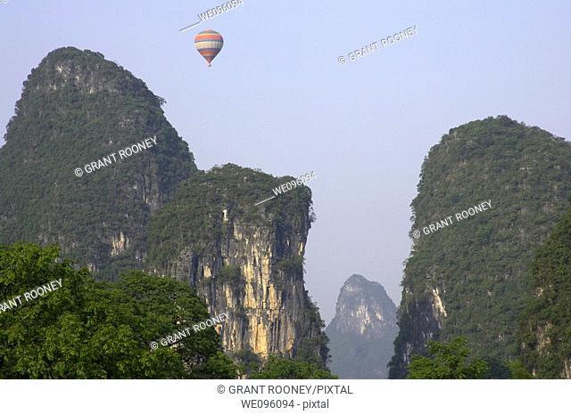 View Of The Limestone Mountain Scenery, Yangshuo, China