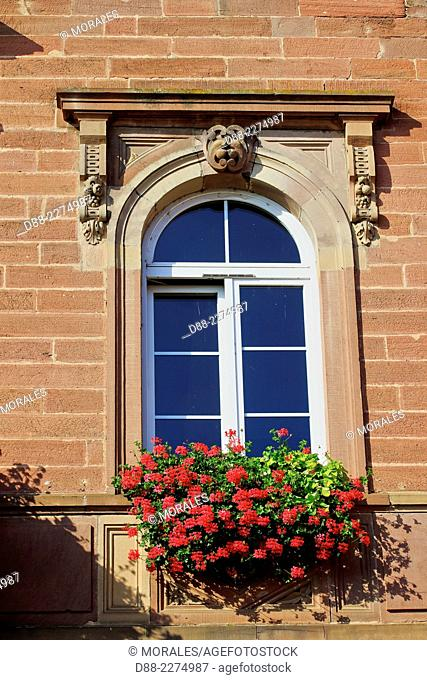 France,Alsace,Bas-Rhin (67),Wine Route,Heiligenstein,front of the city hall