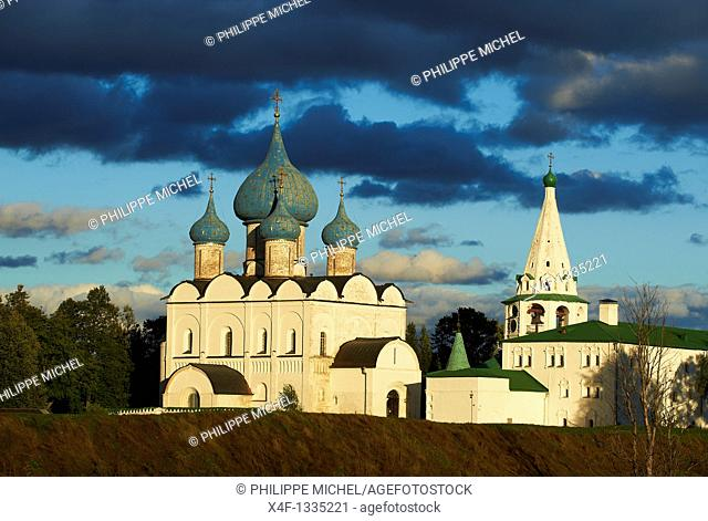 Russia, Rossiya, Vladimir Oblast, Golden Ring, Suzdal, Unesco world heritage, Fortified citadel 'kremlin'  Cathedral of the Nativity, 12th century