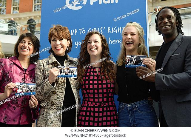 """takes an image for """"Face up"""" to girl's rights in Waterloo station on International day of the girl, which is to end violence against females Featuring: Seema..."""