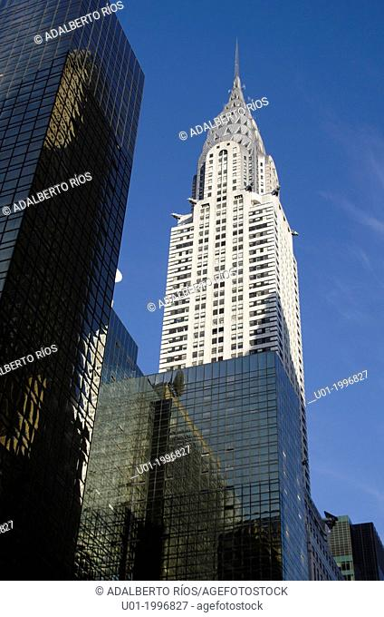 The Chrysler Building in New York is an art deco skyscraper on the East Side of Manhattan