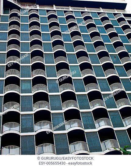 Retro building facade in Tehran, Iran