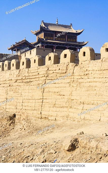 Jiayuguan fort at the western boundary of the Great Wall of China, Gansu province, China, Asia