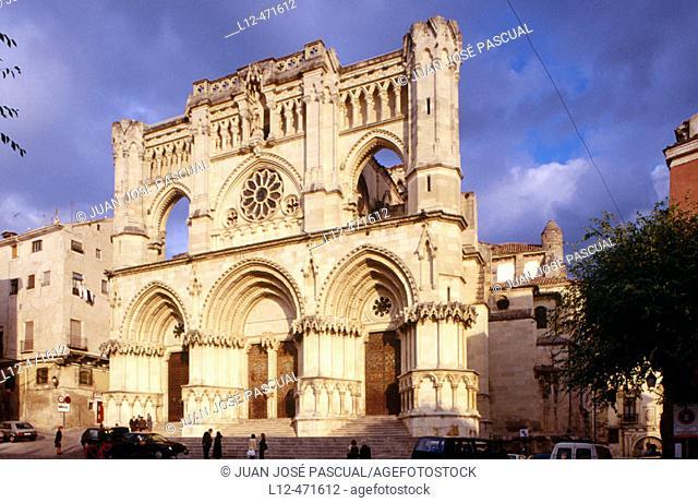 Front of cathedral (12th century), Cuenca. Castilla-La Mancha, Spain