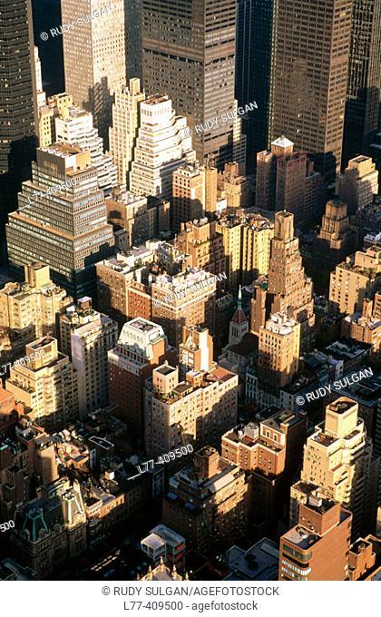 Aerial view of Midtown Manhattan. New York City, USA