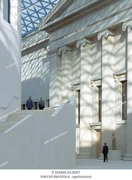 BRITISH MUSEUM GREAT COURT, GREAT RUSSELL STREET, LONDON, WC1 BLOOMSBURY, UK, FOSTER & PARTNERS, INTERIOR, EAST PEDIMENT