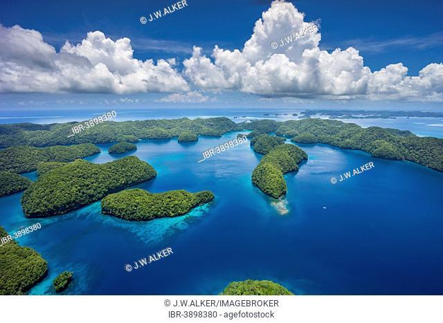 Islands in the island paradise of Palau, Micronesia