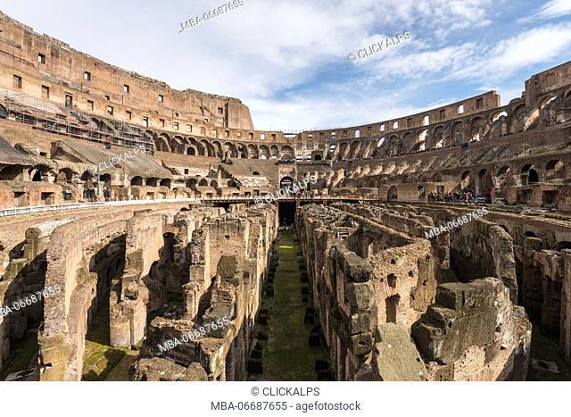 Rome - Lazio,Italy Inside the Colosseo