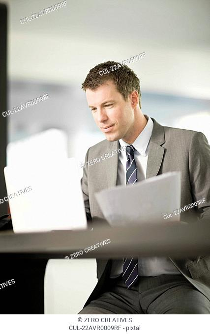 Man working at his notebook