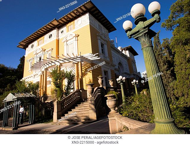 Palacio Portales, Portales Palace, built for mining magnate Simon I Patiño, today it is used as a cultural and arts complex, Cochabamba, Bolivia, South America