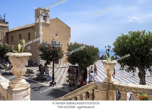 Sant'Agostino library, Taormina, Sicily, Italy