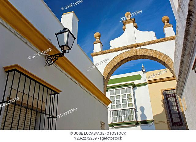Alley of the Arch, Puerto Real, Cadiz province, Region of Andalusia, Spain, Europe