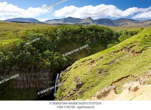 Inver Tote, The gorge formed by the river Lealt, Isle of Skye, Scotland, Europe