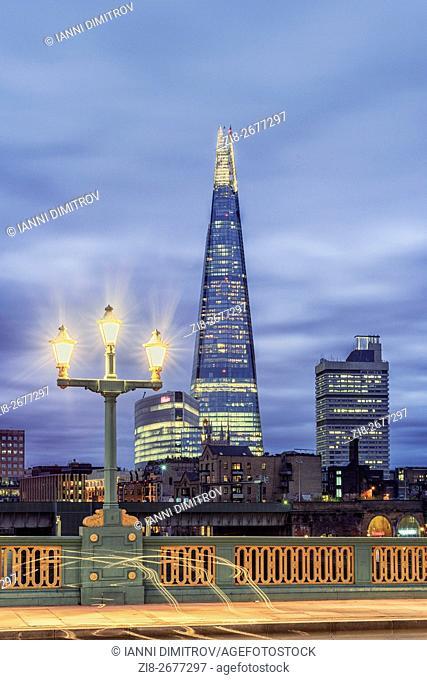 The Shard from Southwark Bridge,London,England