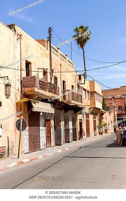 The streets at the Medina Marrakech, Morocco