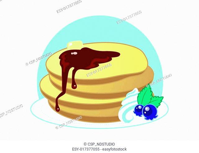 Cute Sweet Cartoon Pancakes