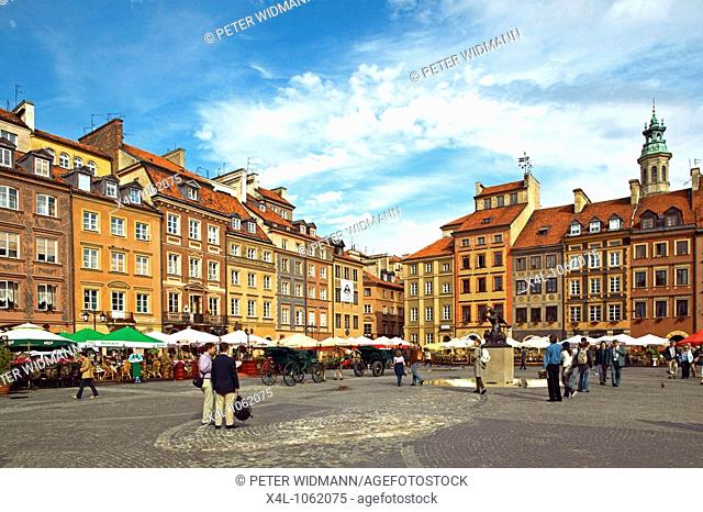 Poland, Warsaw, old city market
