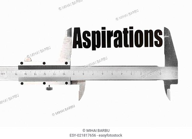 The size of our aspirations