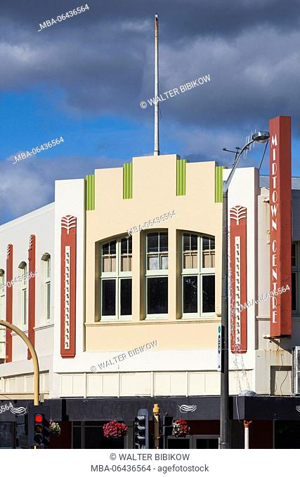 New Zealand, North Island, Wanganui, art-deco architecture, Midtown Centre Building