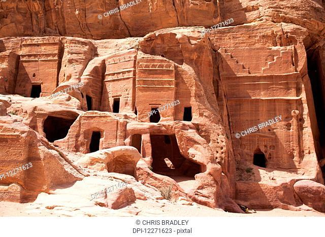 Nabataean and Roman tombs; Petra, Jordan