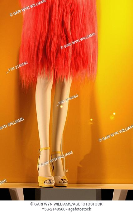 mannequin in fendi shop window, rome, italy