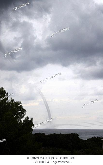 Waterspout, Formentera, Balearic Islands, Spain